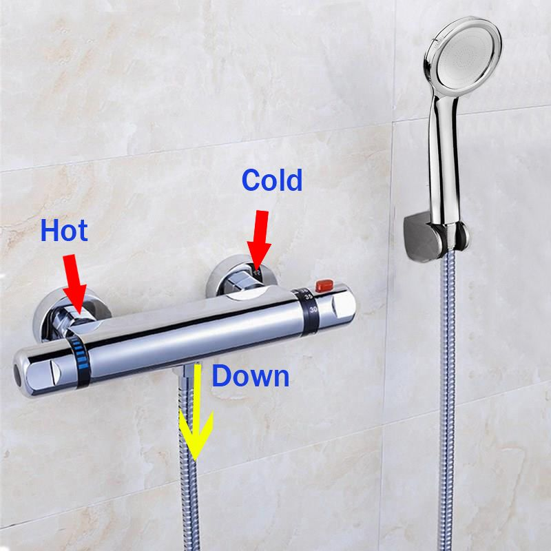 Hot Sale Thermostatic Shower Faucet Thermostatic Mixing Valve ...