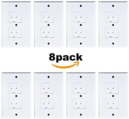 Amazoncom Universal Self Closing Electrical Outlet Covers Extra