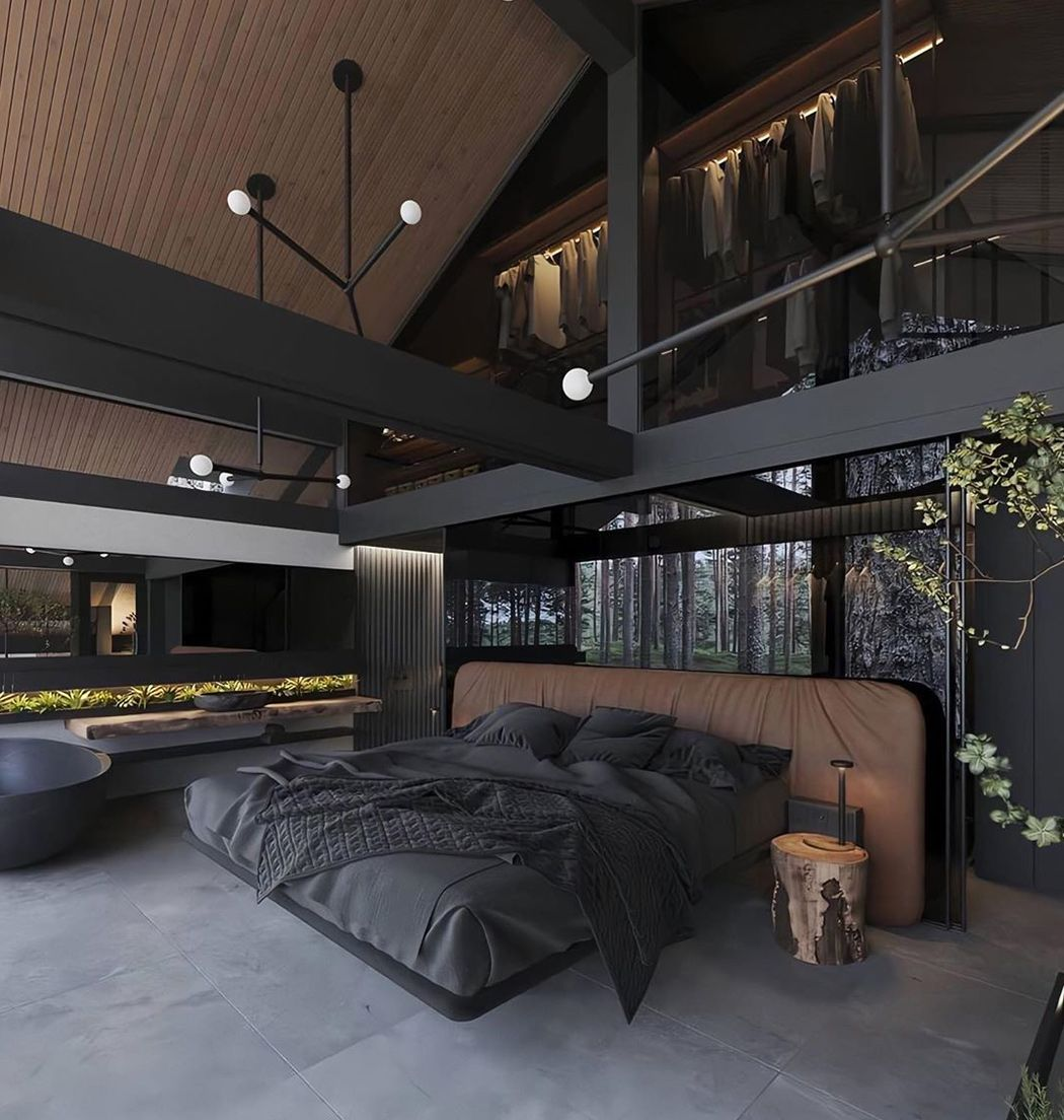 All black interior designs that will inspire you to adapt this modern  minimal trend | Dream house interior, Architecture house, Dark interiors