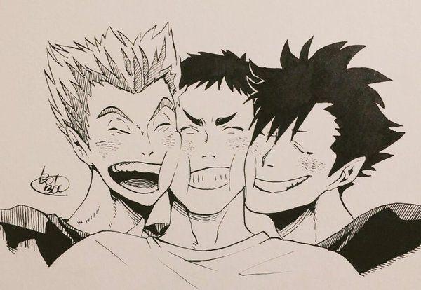 Haikyuu||| Sawamura Daichi, Kuroo Tetsurou, Bokuto Koutarou