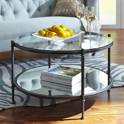Beau Clara Coffee Table   Gunmetal