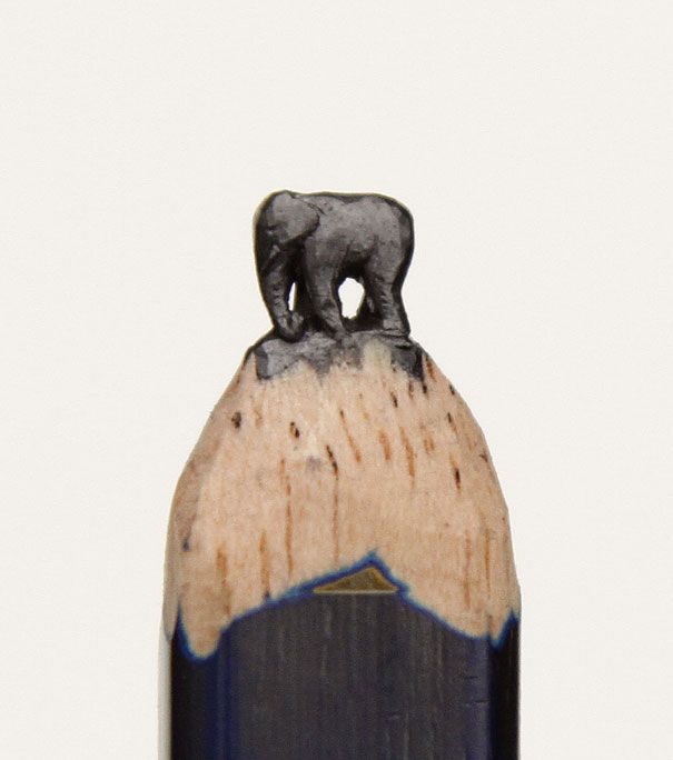 Incredible Pencil Tip Sculptures By Diem Chau American Artists - 8 astonishing tiny sculptures carved on the tips of pencils