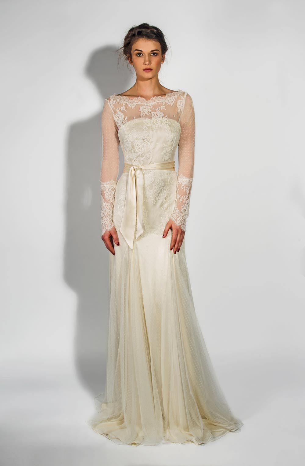 20c2c47ecc The sheer sleeves on the Aster gown from Belle   Bunty add coverage but are  lightweight enough that you won t feel too covered up. We love the  detailing on ...