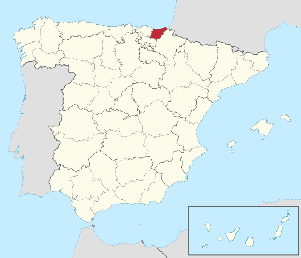 Map Of Spain By Province.Gipuzkoa Is A Province Of Spain And A Historical Territory Of The