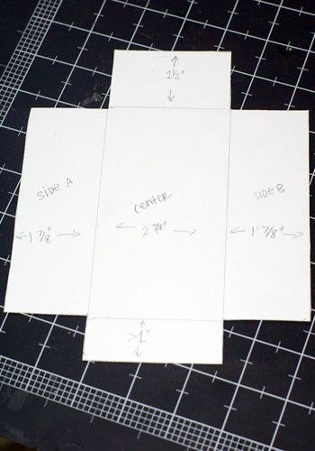 Template For Making Rectangle Envelopes With Special Papers For