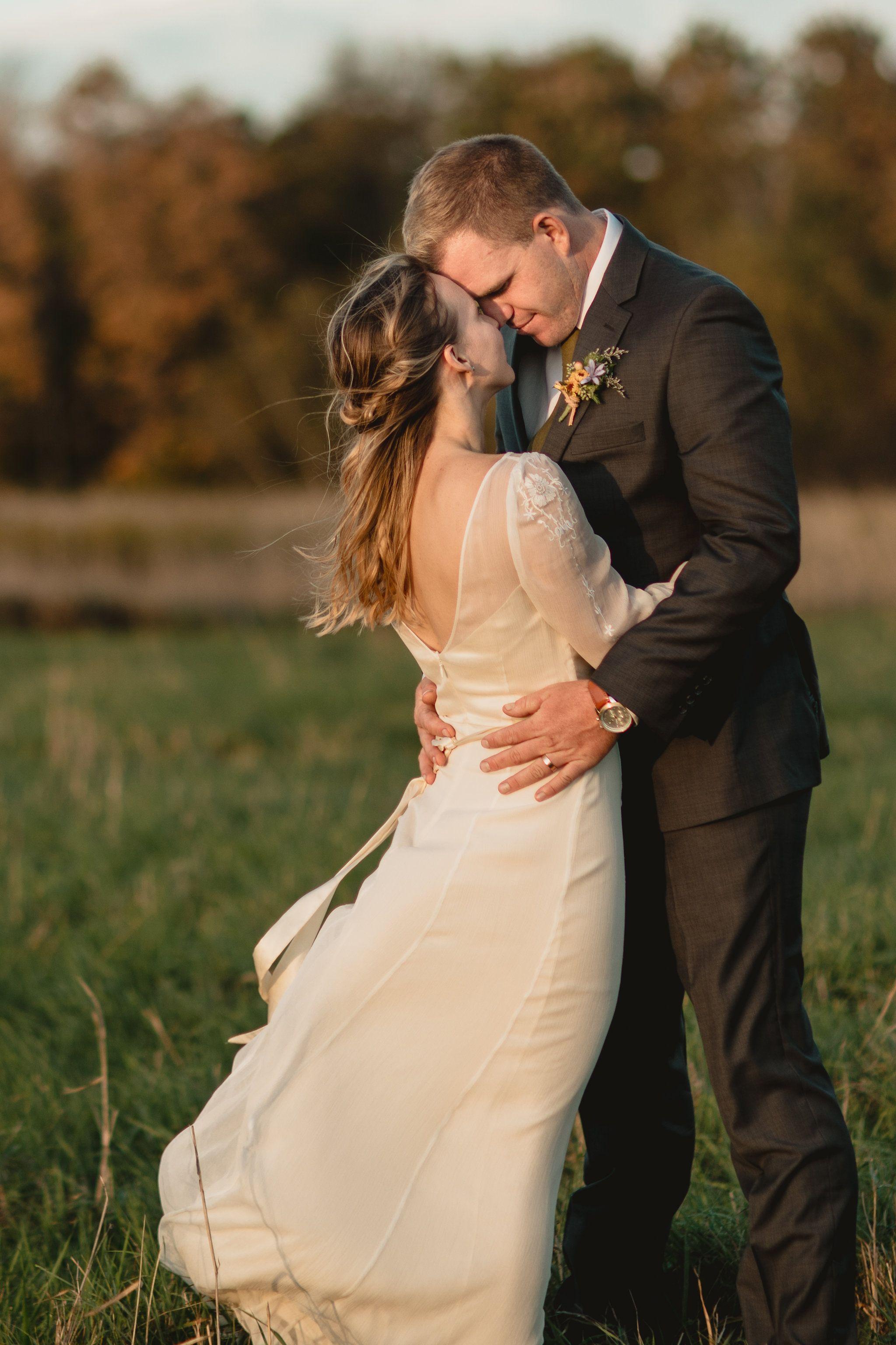 Rm long sleeve bohemian wedding dress outdoor wedding