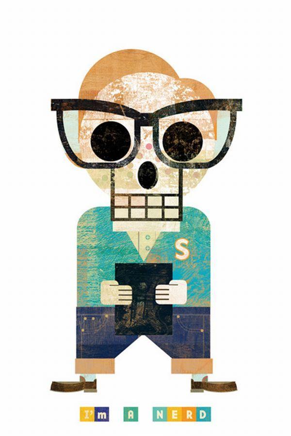 """Muertitos"" by Argentinean illustrator Christian Montenegro."