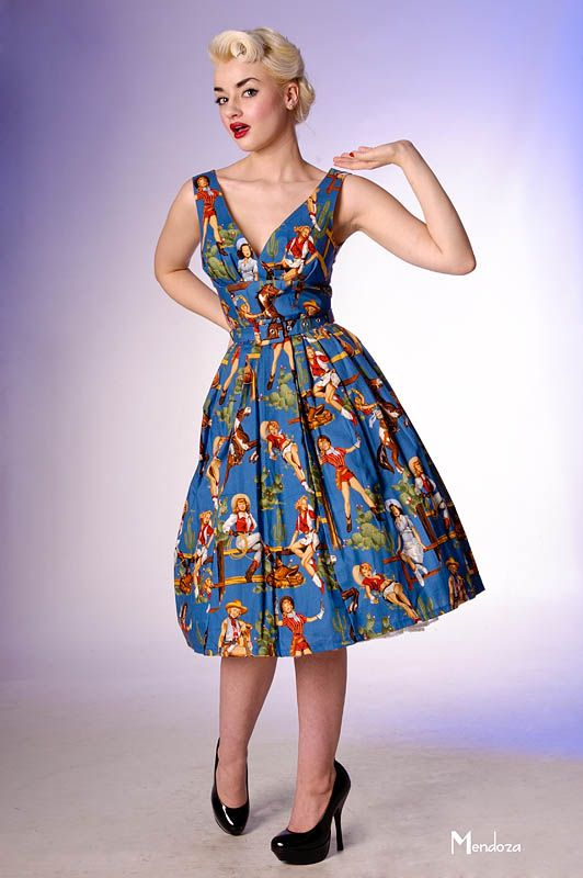 classic vintage colorful prom dress
