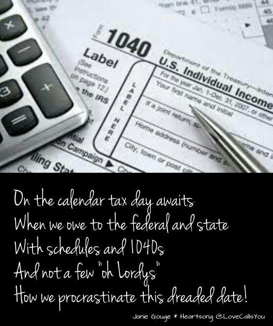 Tax Day (limerick) 4/1/16 | Humorous Poems | Pinterest