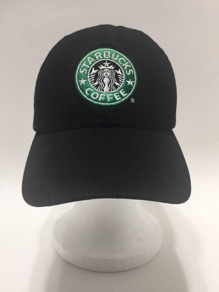Starbucks Coffee Mermaid Retro Barista Baseball Cap Hat Black Adj Strapback   Starbucks  BaseballCap b24bbe2e1212
