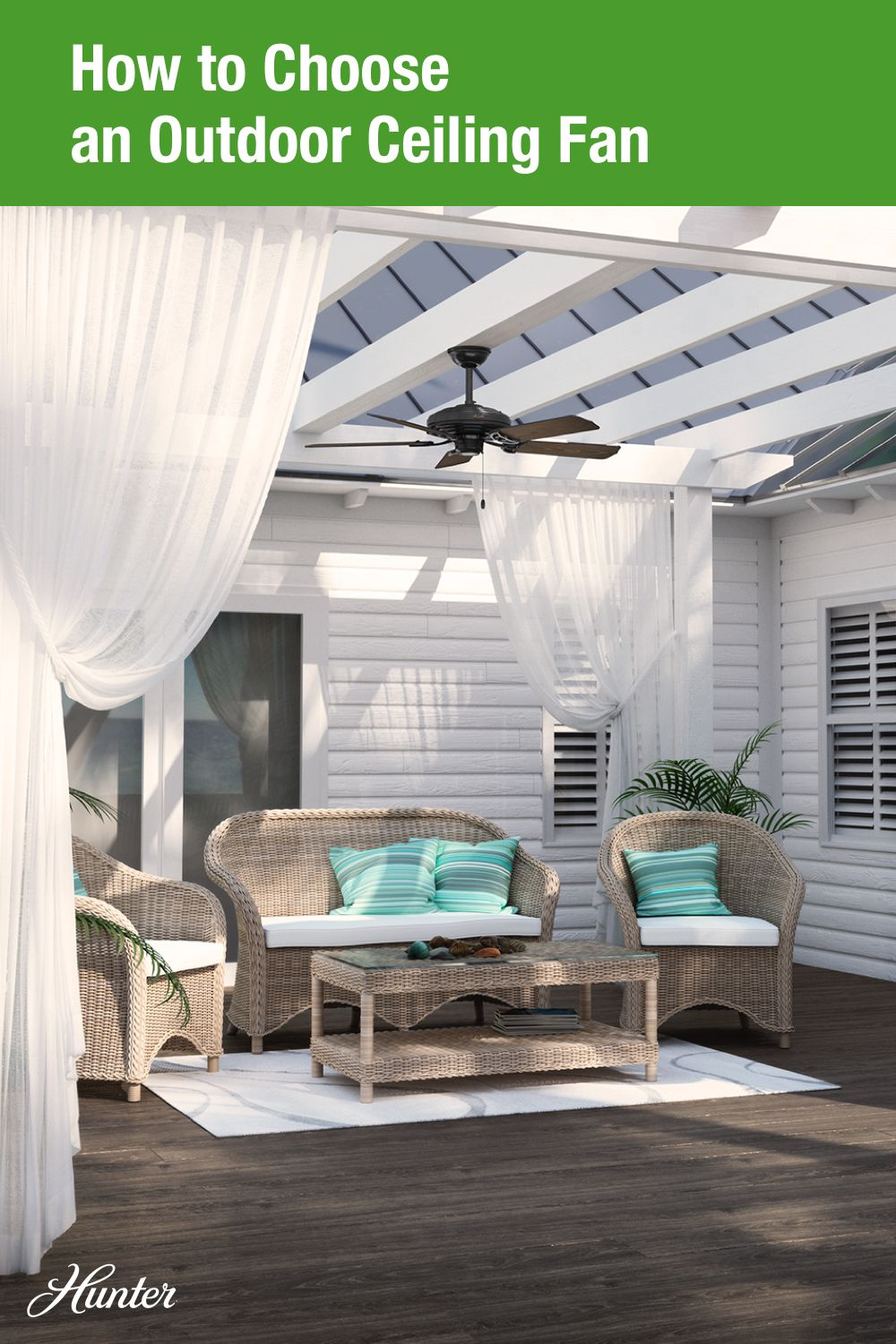 How To Choose An Outdoor Ceiling Fan With Images Outdoor