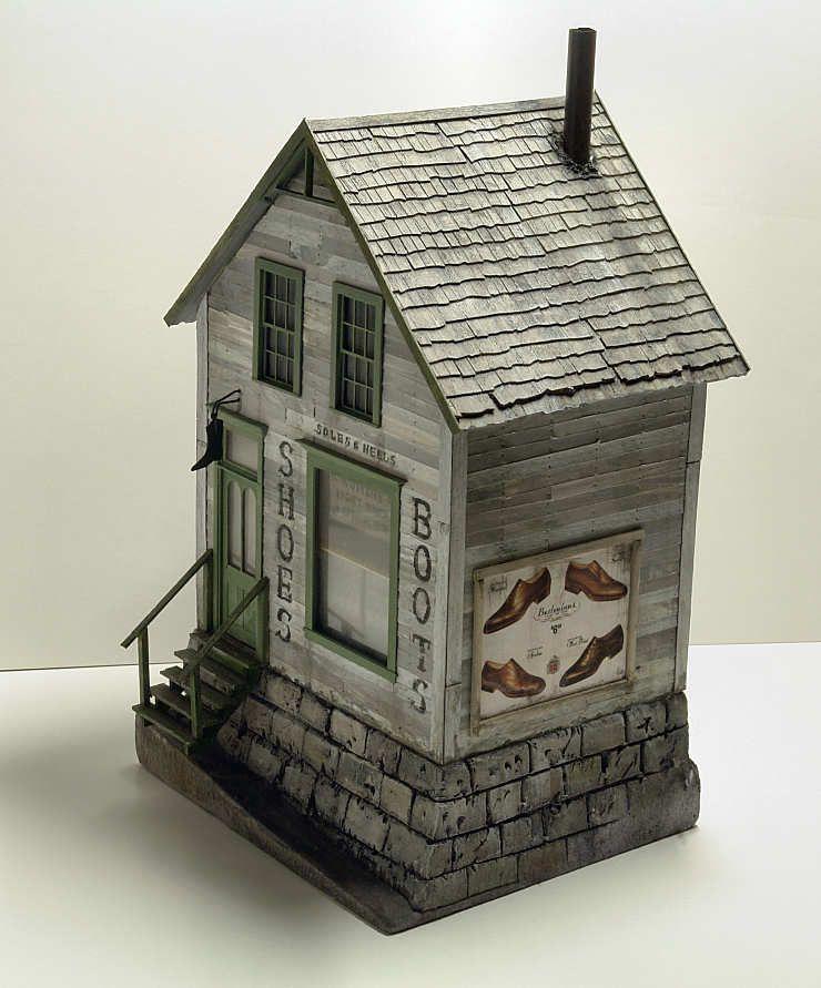 Shoe shop. By Troels Kirk. #Miniature_house - Railroad Line Forums