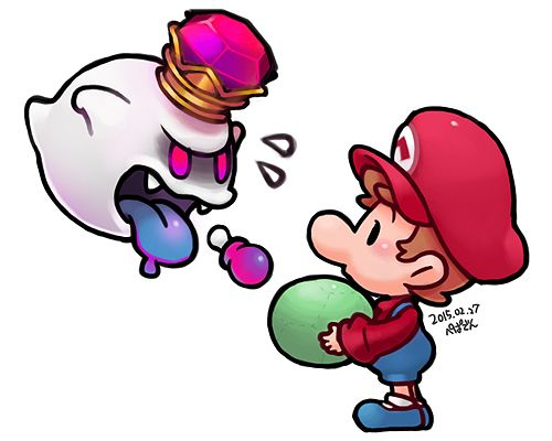 Baby Mario Baby King Boo Pixiv ぺぱでん ʟᴜɪɢɪꜱ
