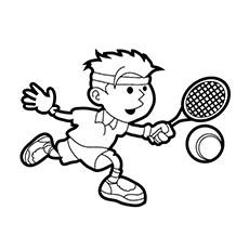 tennis ball coloring page - print coloring image printing tennis players and tennis