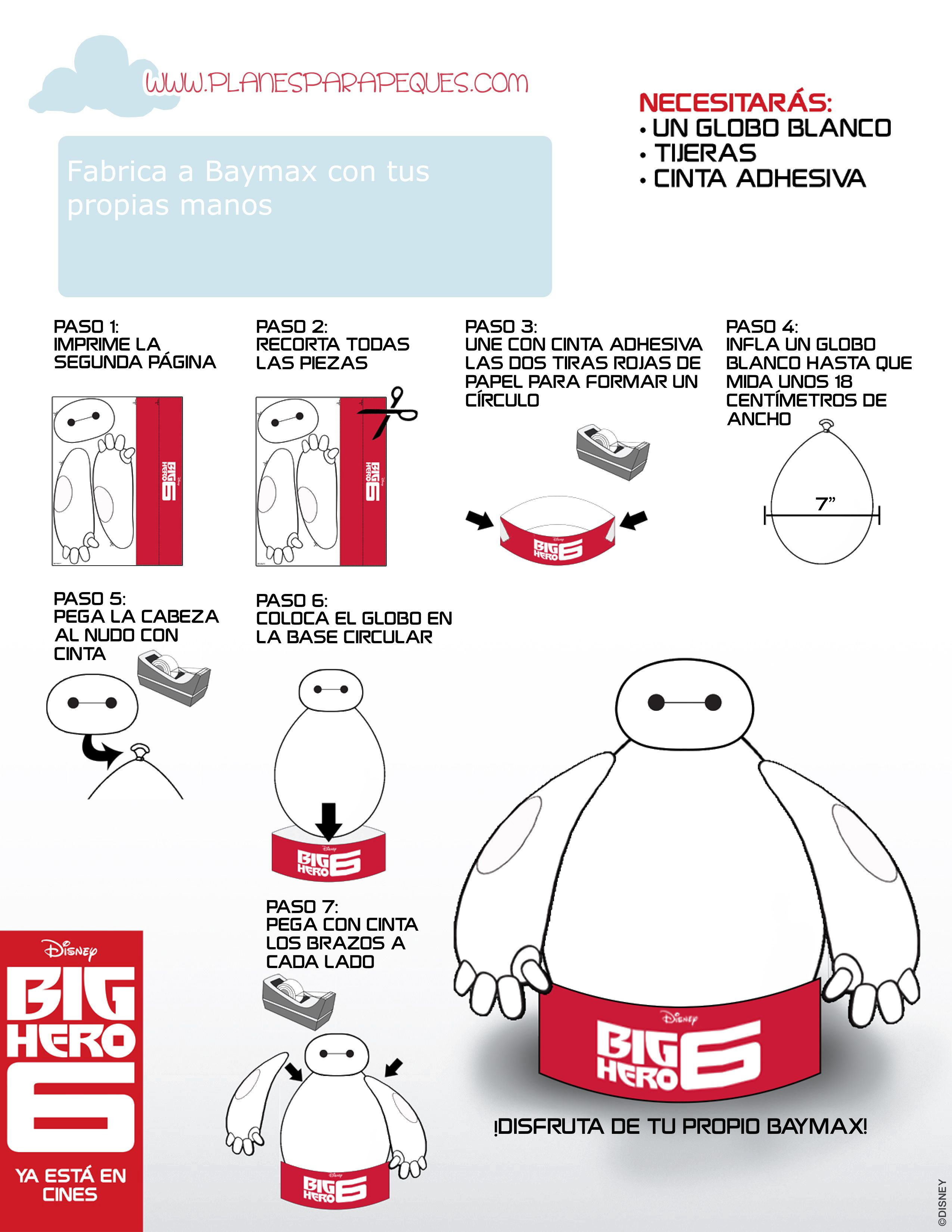 Big Hero 6 Manualidad Baymax Hoja 1 De 2