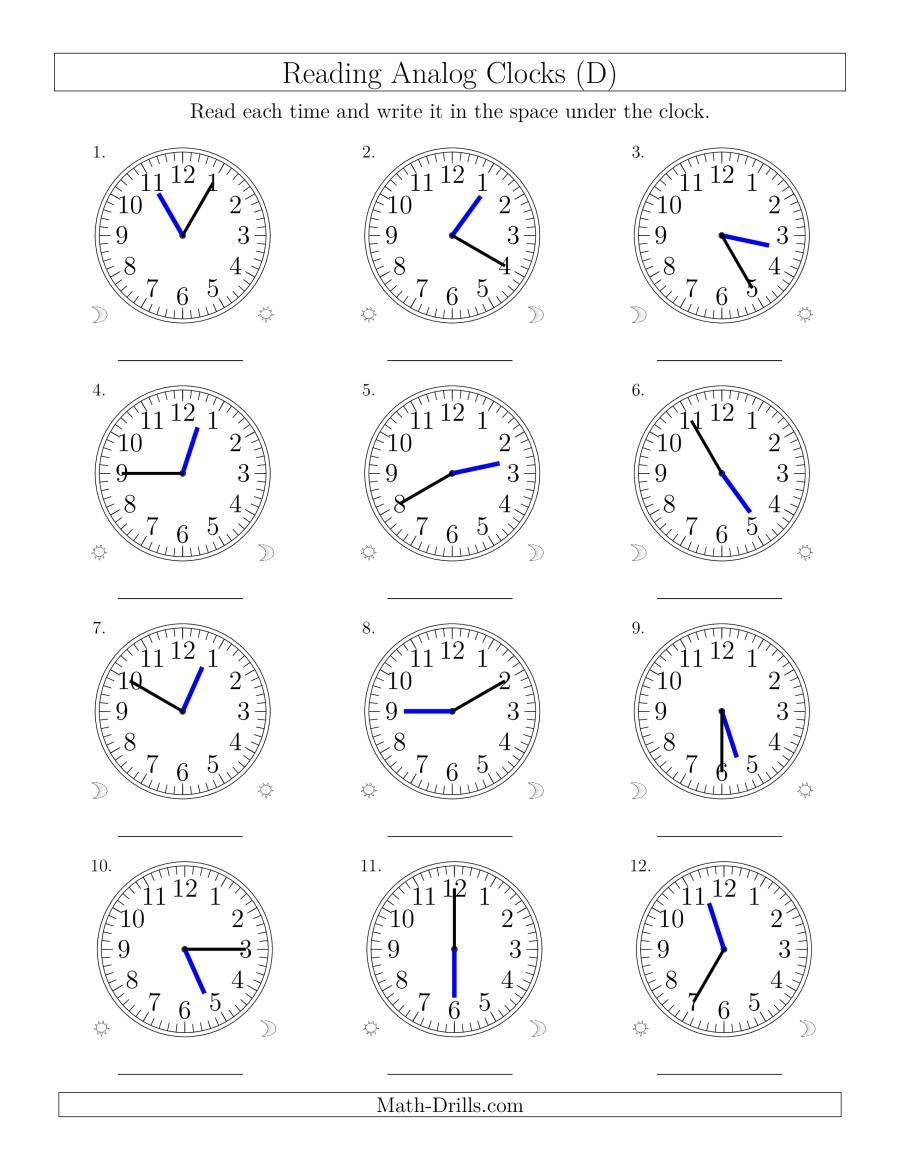 Pin on Clock worksheets
