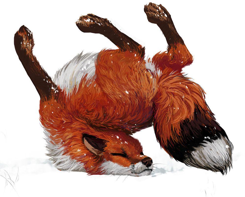 Fluffy Fox Pin