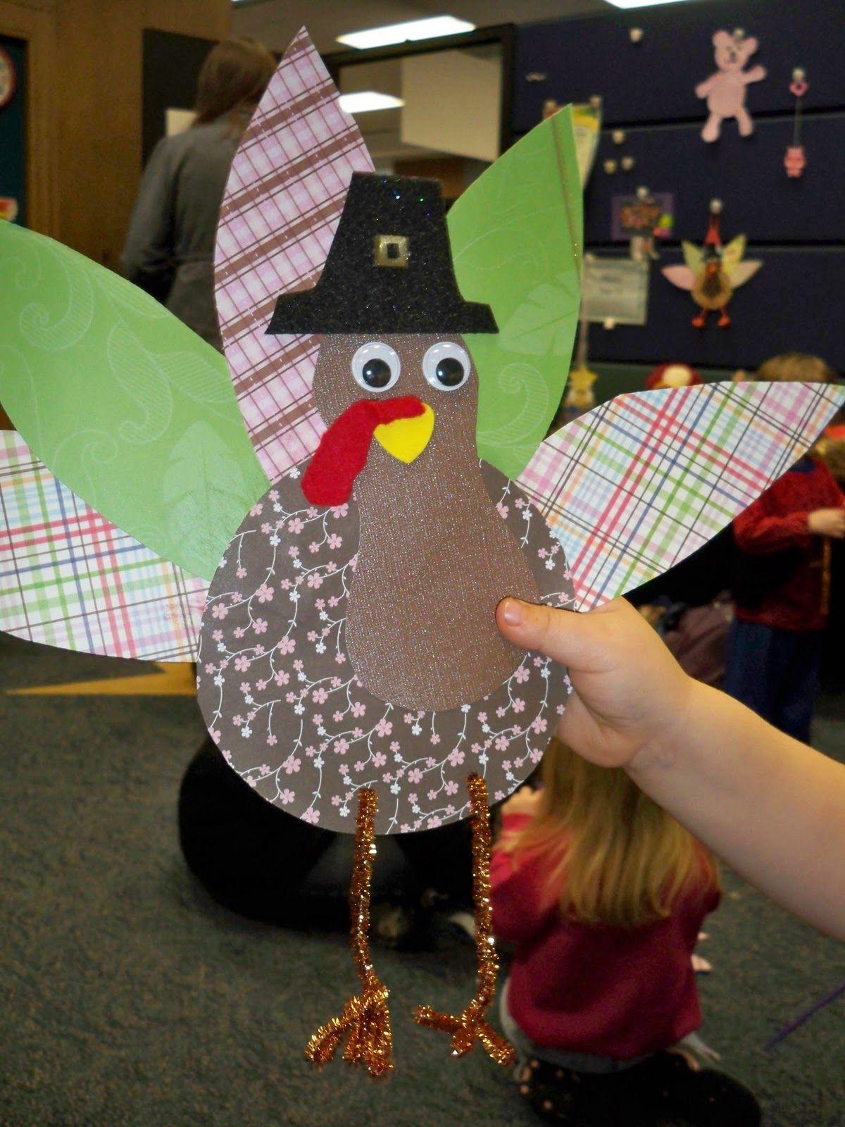 scrapbook paper turkey Turkey crafts for preschool