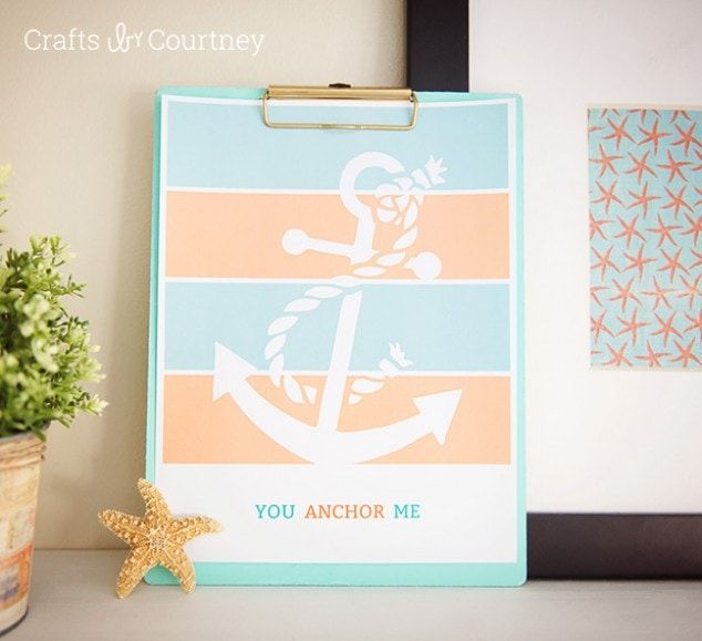 Free Printable  You Anchor Me Coastal Printable is part of Nautical theme decor, Coastal beach decor, Coastal decor, Diy swag, Free printables, Anchor - Who doesn't love a free printable  I created a great printable to go with any coastal or nautical theme decor  Print off and add to a decorative frame and your done!
