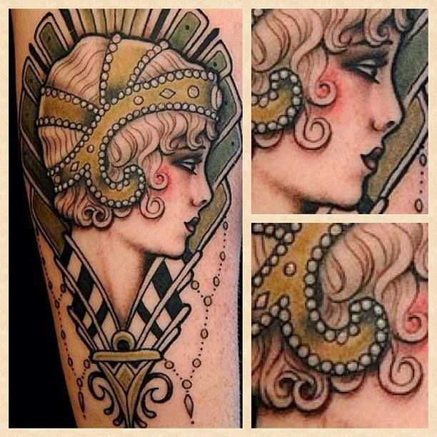 The Great Gatsby tattoo by by W. T. Norbert