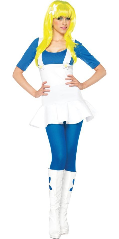 Adult Blue Gnome Costume Party City Smurfette Halloween Ideas