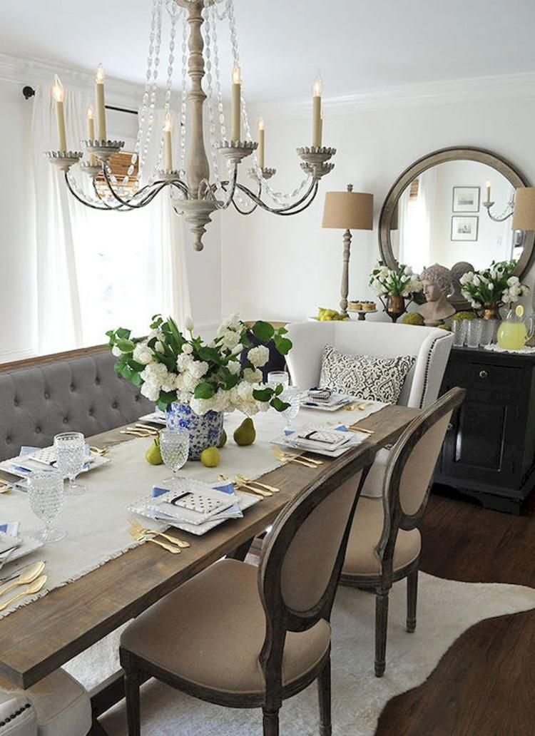 70 Admirable French Country Dining Room Design Ideas French Country Dining Room Decor Farmhouse Dining Room French Country Dining Room
