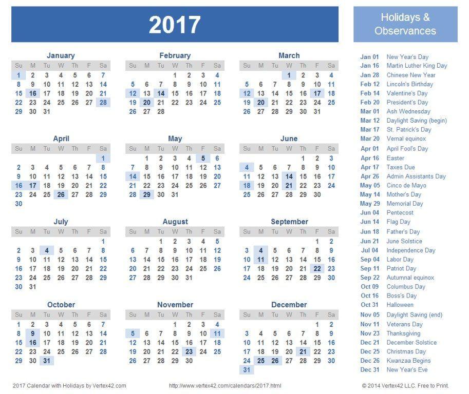 58 Stunning 2017 Printable Calendar Templates Printable calendar