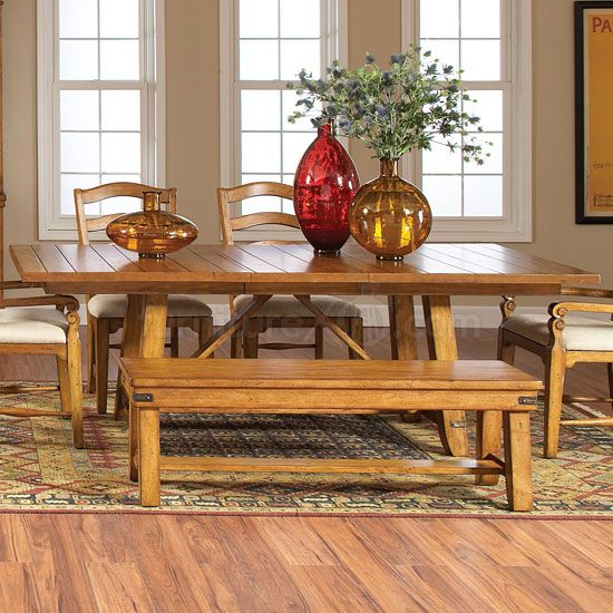 Click to Enlarge Image of Attic Heirlooms Heritage Trestle Table