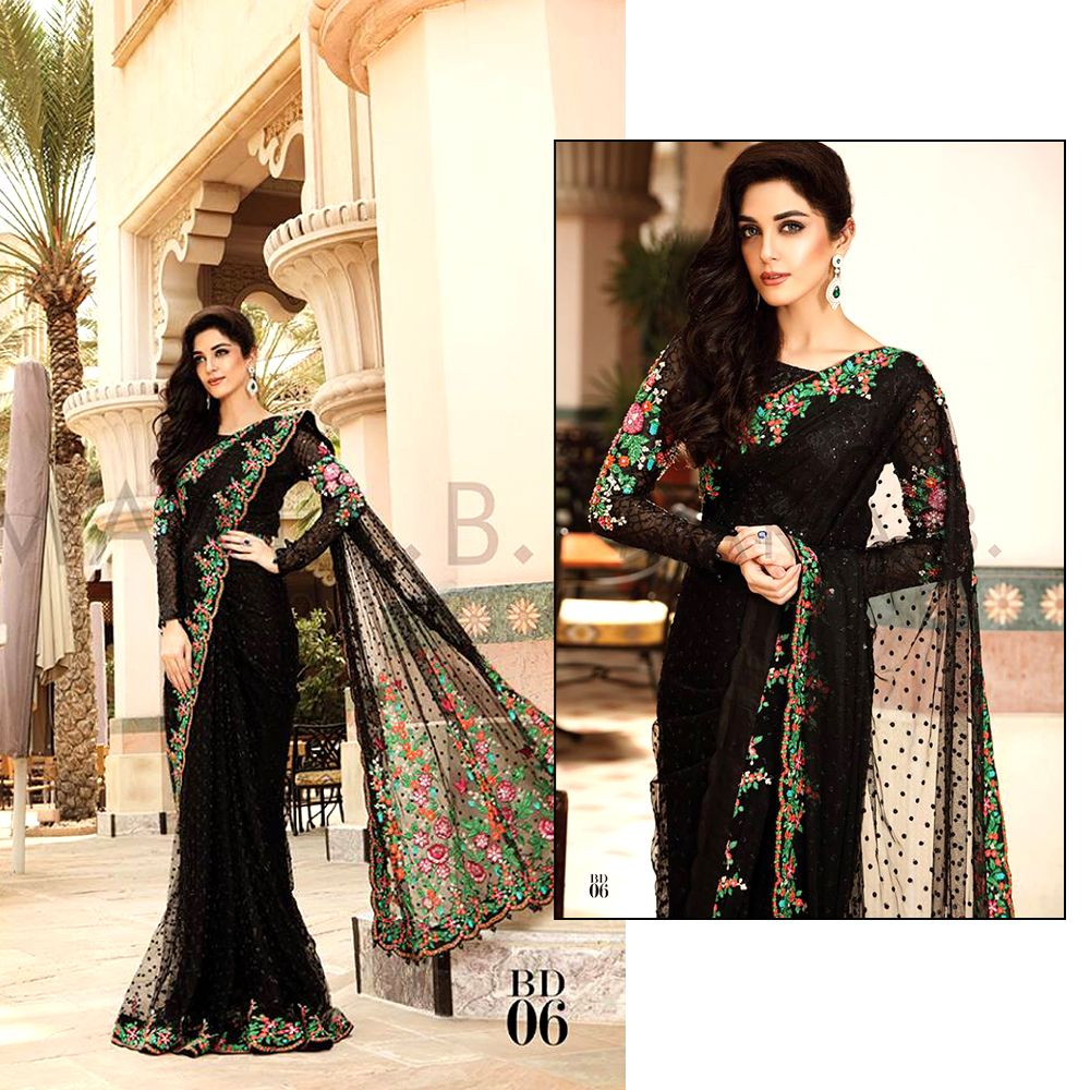 Latest Pakistani Designer Saree Designs 2018 For Women