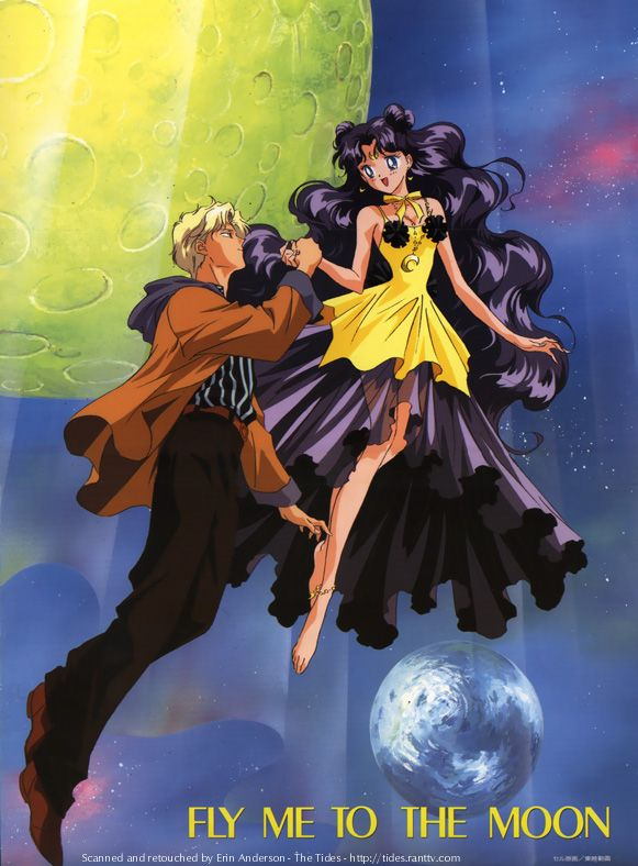 Sailor Moon S Movie: Hearts in Ice. Human Luna and her lover. Like a fairytale <3