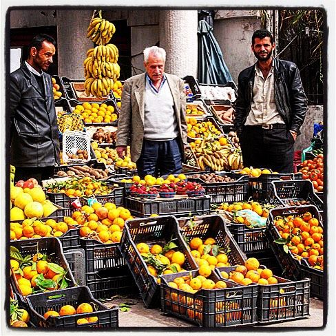 #tbt back to when my lovely driver Jamil (in the middle) was still alive and used to drive me around Beirut in a 1968 Plymouth. That day I was going to the Iranian embassy and we had stopped in Ouzai to buy fruit that was cheaper than in Ballouneh . I still miss him. He was absolutely lovely. by anissahelou