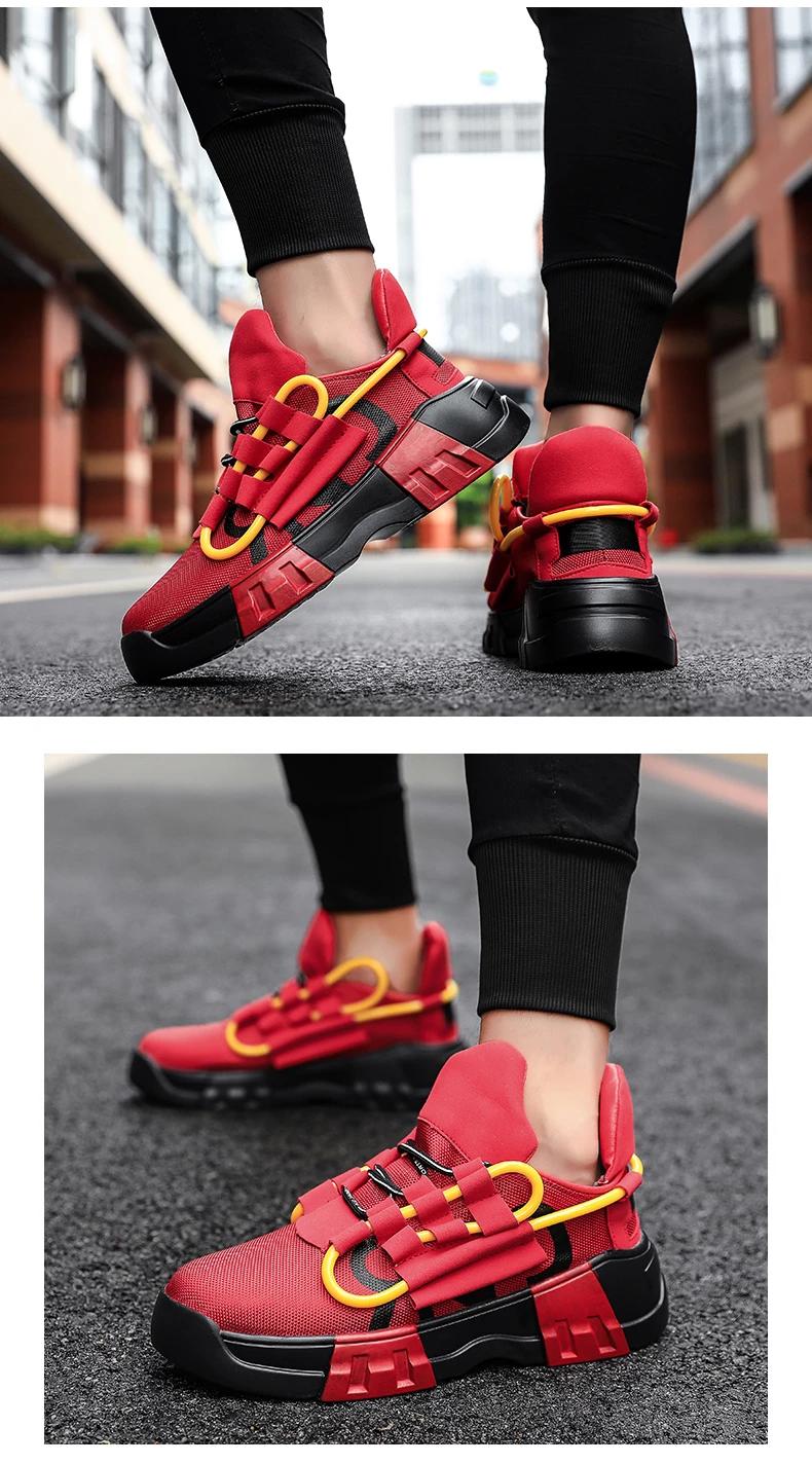 Awesome Thick Bottom Men Sneakers Trend Hip Hop Street Dance Shoes Kidenhome Trending Sneakers Sneakers Men Sneakers