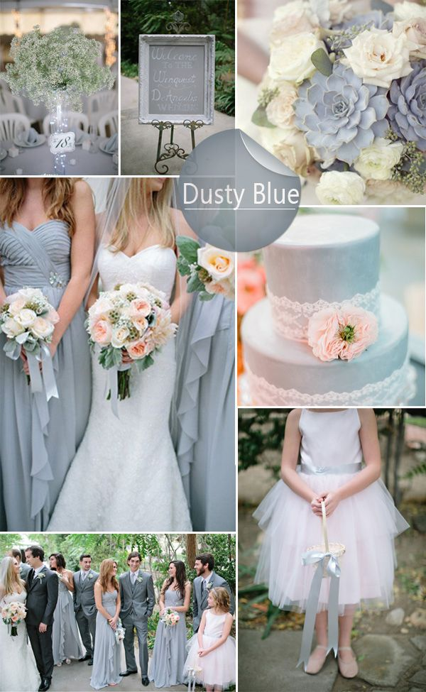Dusty blue and blush wedding theme colors pinterest casamento dusty blue and blush wedding junglespirit Gallery