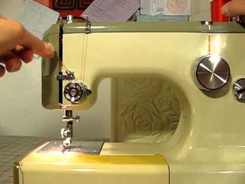 How To Thread A Sears Kenmore Sewing Machine Model 4040 She's Inspiration How To Thread A Vintage Kenmore Sewing Machine