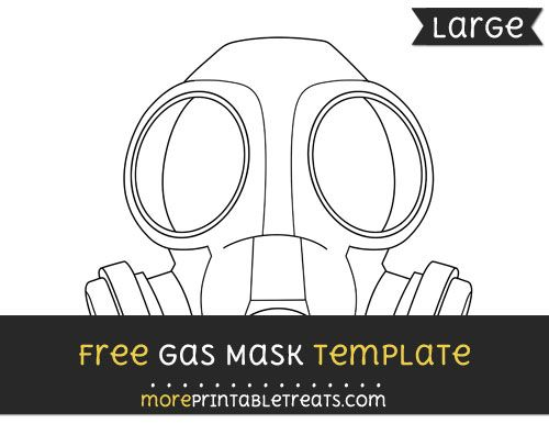 Free Gas Mask Template - Large | Shapes and Templates Printables ...