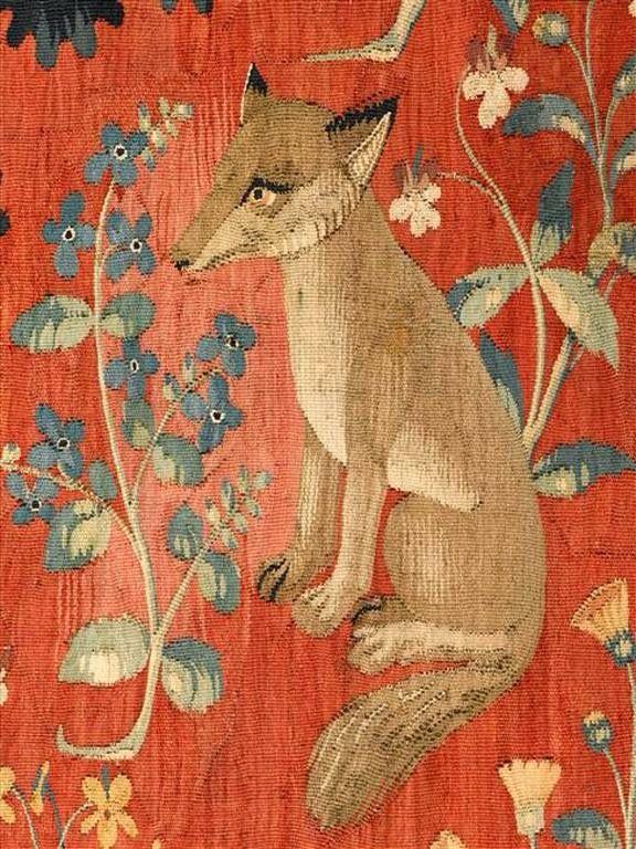 Orenco Originals Medieval Resting Rabbit Detail Lady Unicorn Counted Cross Stitch Pattern