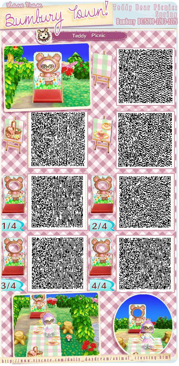 Animal Crossing Picnic Blanket Qr
