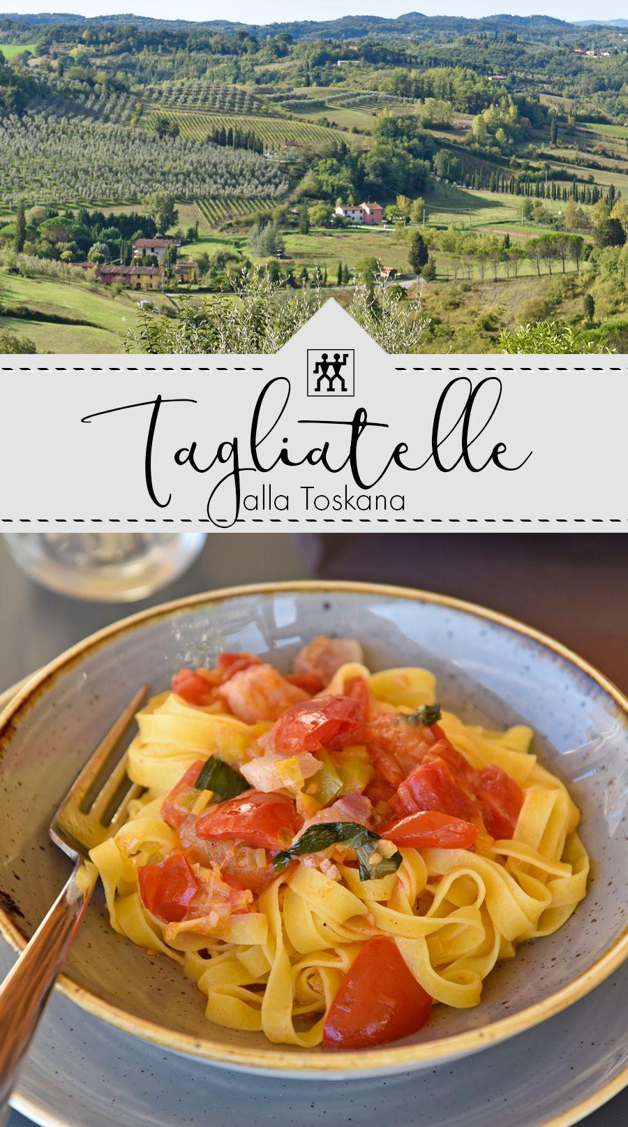 Tagliatelle alla Toskana: mit Pancetta, Lauch und Tomaten ...