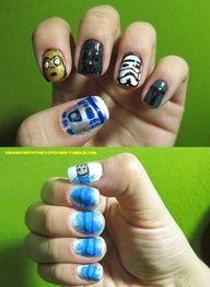 Star Wars nails, esto es llevarlo hasta las ltimas... Audry Fernandez, te luciran muy bien :)