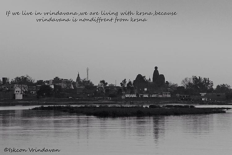 """If we live in vrindavan, we are living with krsna, because vrindavan is non-different from krsna.  #vrindavan #vrindavandham #yamuna #river #riverside…"""