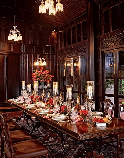 Meval Dining Room This Is A Very Dark Gothic Looking Formal Too For