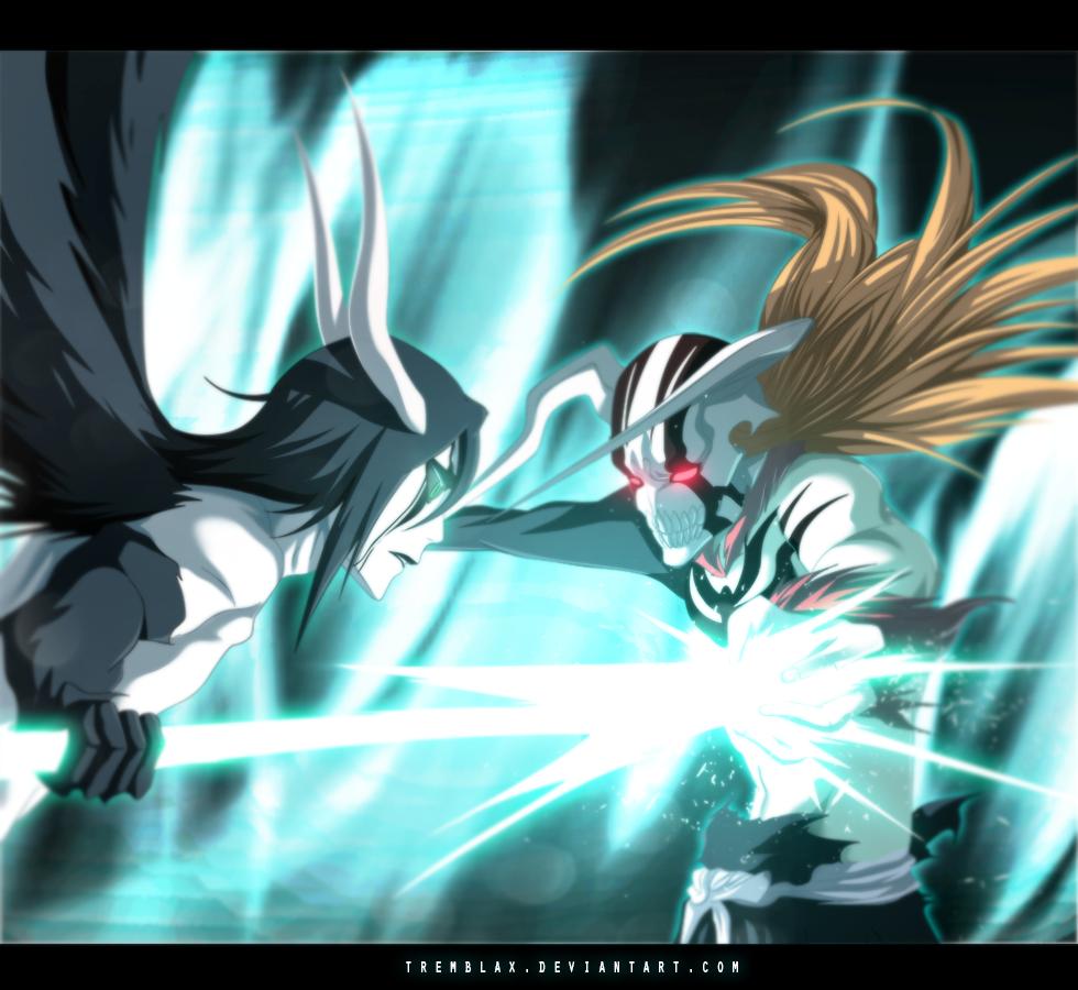 Ichigo vasto lord vs Ulquiorra murcielago