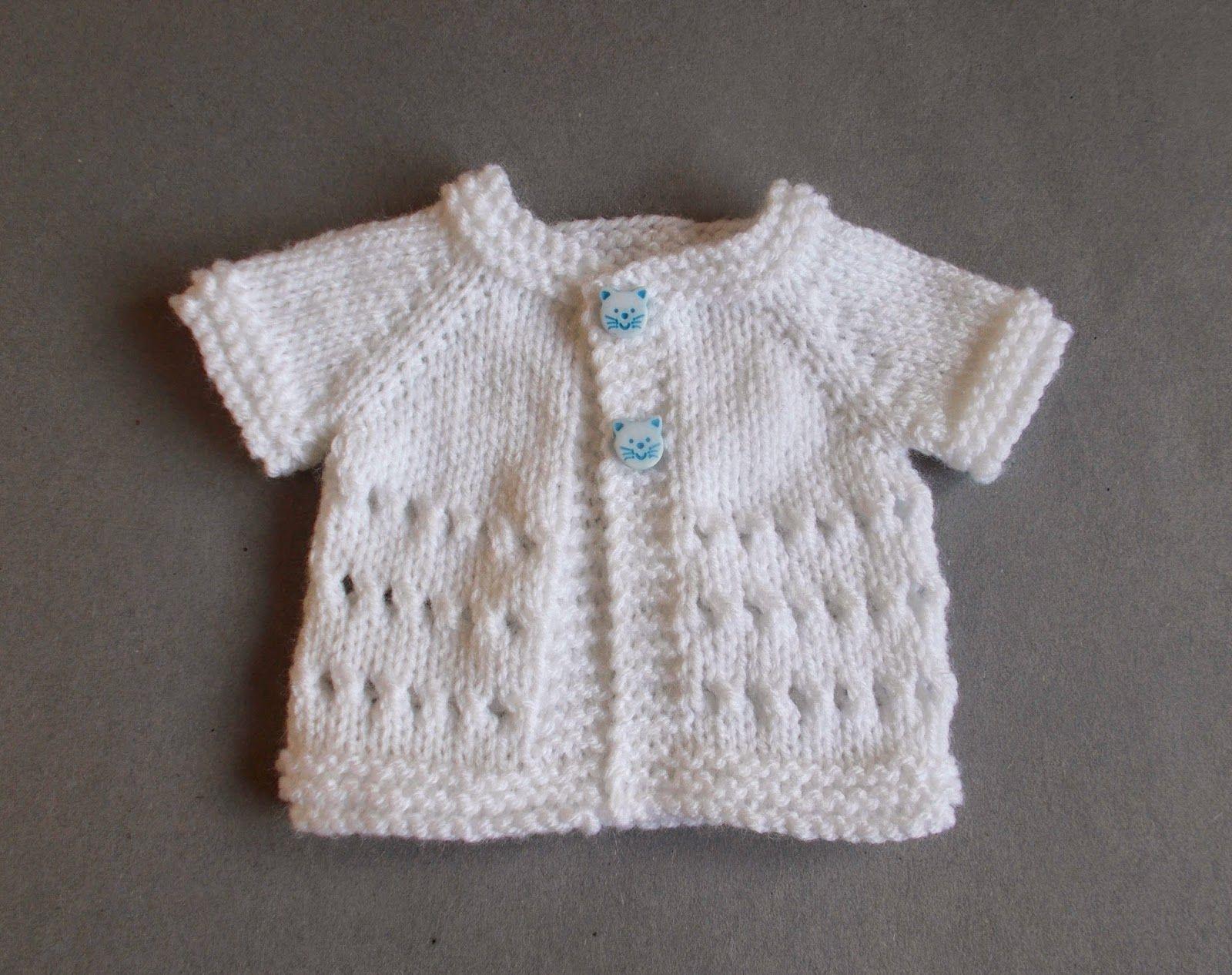 marianna\'s lazy daisy days: Little Jay ~ Premature Baby Cardigan ...