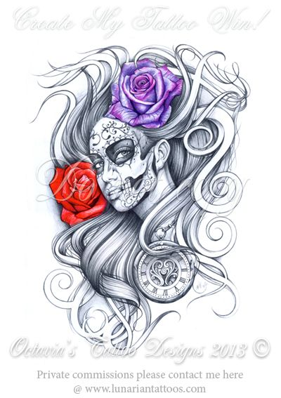 Create My Tattoo Competition Win Private Commissions Http Www Lunariantattoos Com Commi Day Of The Dead Tattoo Designs Day Of Dead Tattoo Body Art Tattoos
