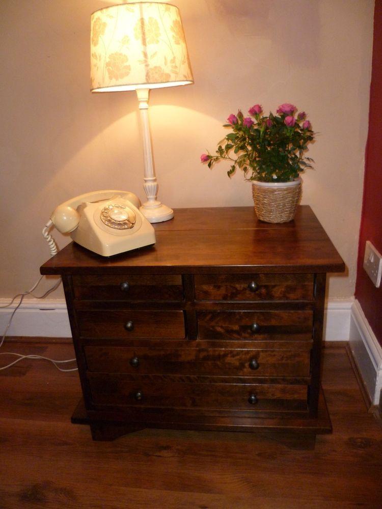 Laura Ashley Garrat Range Chestnut Six Drawer LampCoffee Table