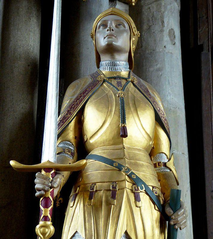 St Joan of Arc | www.saintnook.com/saints/joanofarc | Joan of Arc by Sir Niniam Comper, 1926