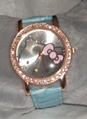 Hello Kitty wrist watch baby blue Free-Shipping