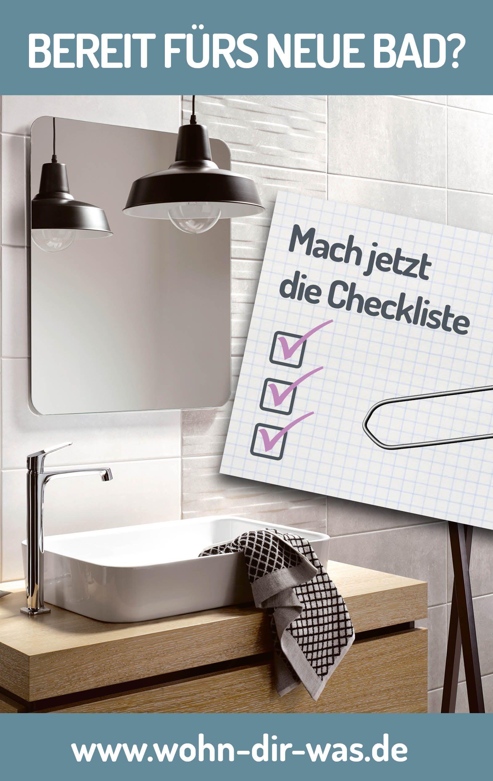 Bereit fürs neue Bad? Checkliste zum sicher sein. | Badezimmer ...