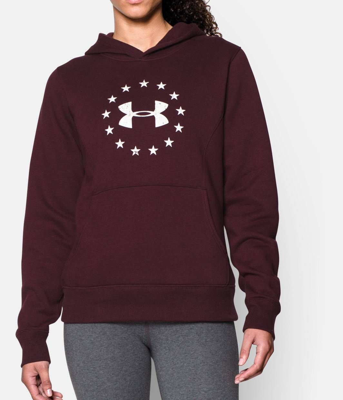 Women S Ua Freedom Logo Hoodie Under Armour Us Fleece Hooded Sweatshirt Hoodies Hooded Sweatshirts