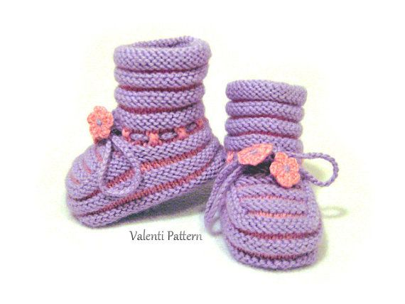 PATTERN Baby Knitting, Baby Booties, pattern for baby girl, pattern ...